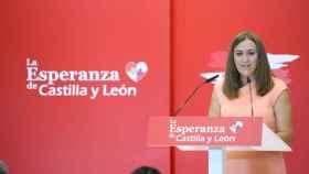 Virginia Barcones en el XIV Congreso del PSOECyL