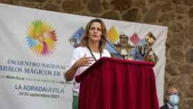 Teresa Ribera, Ministra de Transición Ecológica y Reto Demográfico, en Ávila