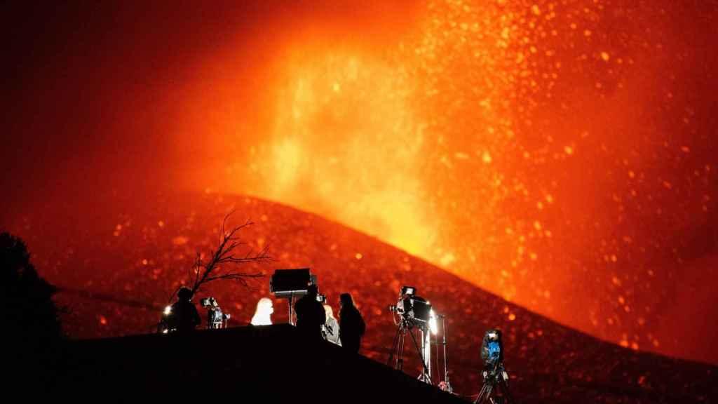 Espectacular imagen del volcán en La Palma.