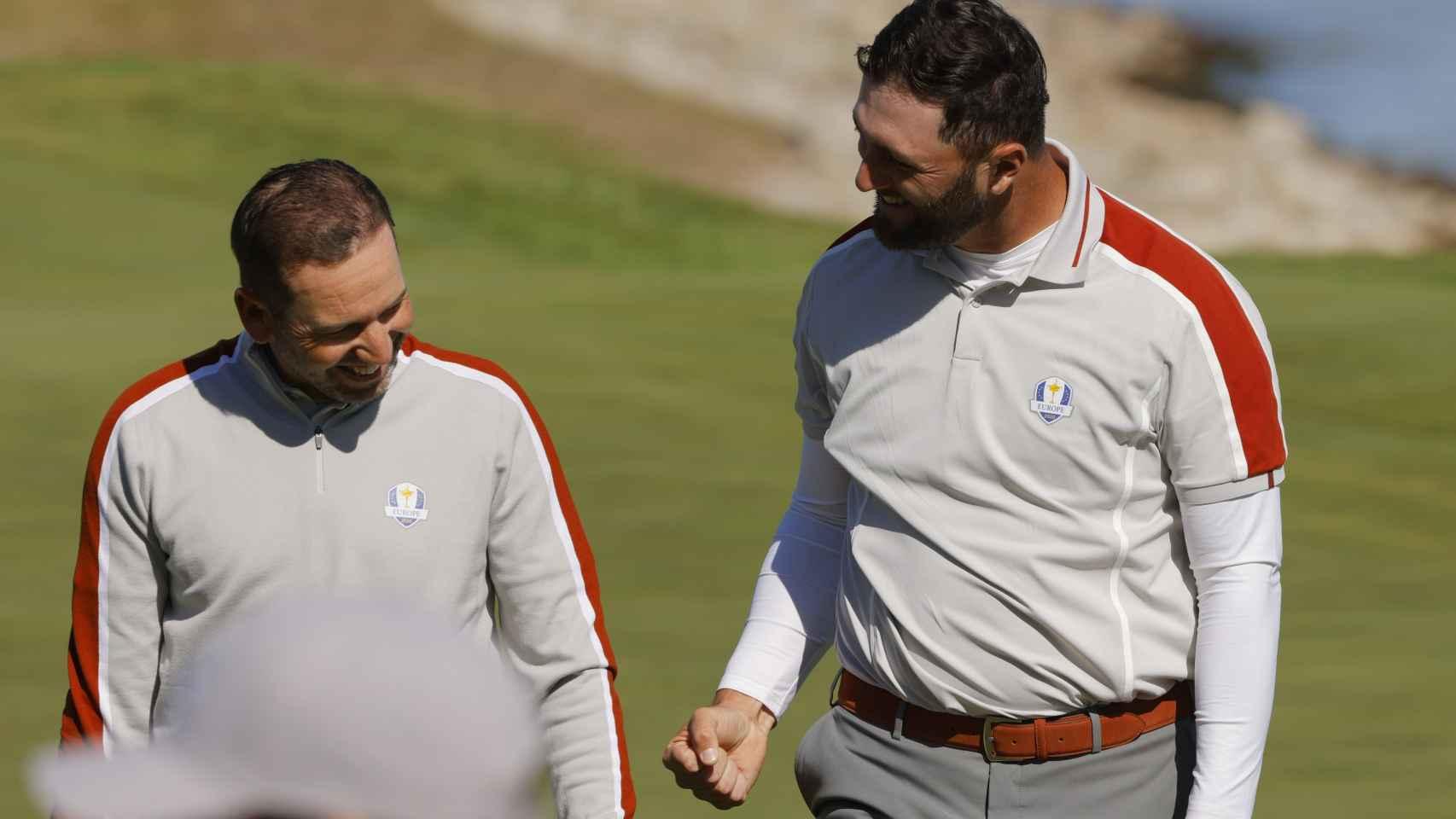 Sergio García y Jon Rahm, en la Ryder Cup 2020