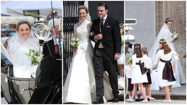 Jaime de Borbón-Dos Sicilias y Charlotte Lindesay-Bethune, en varios momentos de su boda | Fotos: Gtres