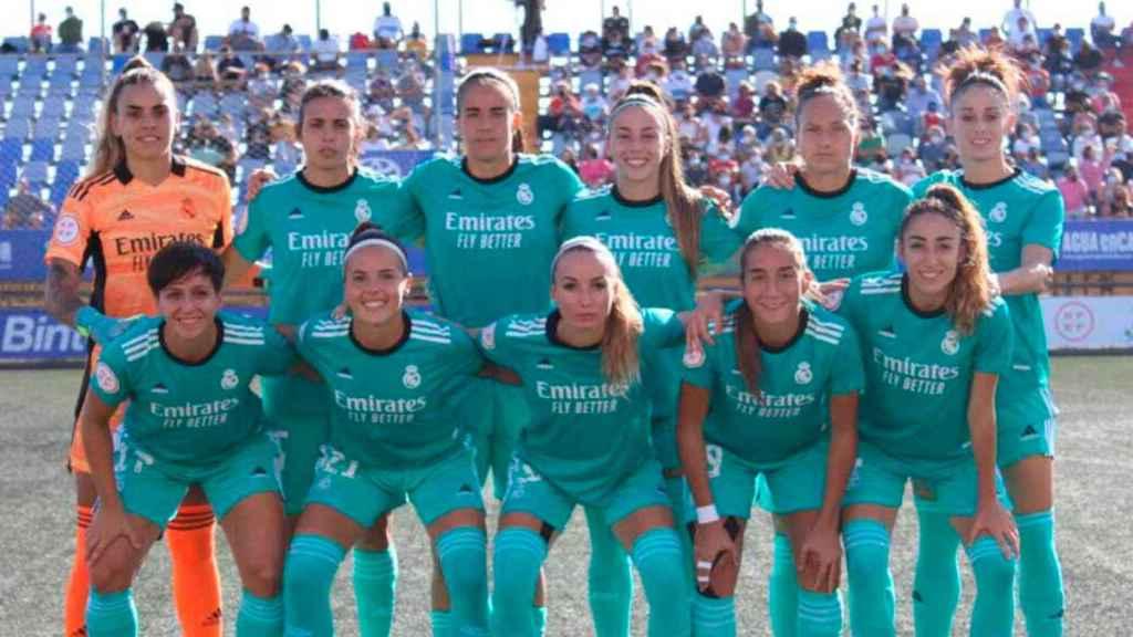 El equipo titular del Real Madrid Femenino ante el Granadilla