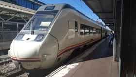 Tren Alvia, en la estación de Salamanca