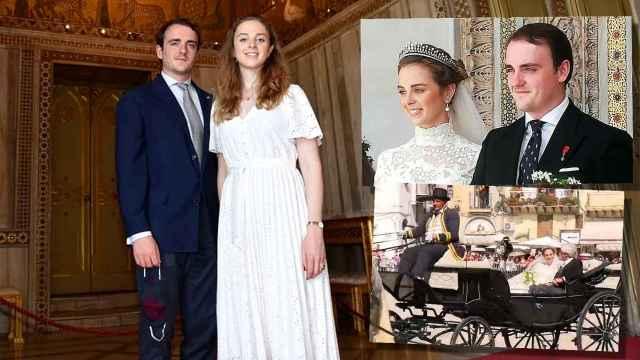 Jaime de Borbón-Dos Sicilias y Charlotte Lindesay, en un montaje de Jaleos | Fotos: ARS Sicilia (izq), MonrealeLive.it (dcha)