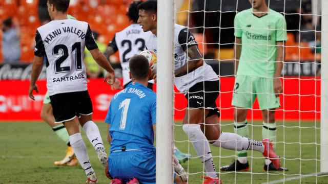 Marcos André celebra su gol ante el Athletic