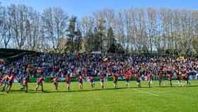 La selección española de rugby femenino, en el Central