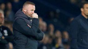 Wayne Rooney, en un partido del Derby County