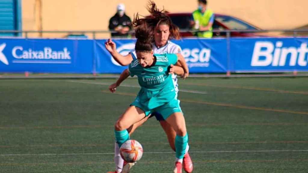 Esther, en un partido del Real Madrid Femenino