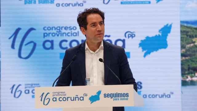 Teodoro García Egea, secretario general del PP, en A Coruña.