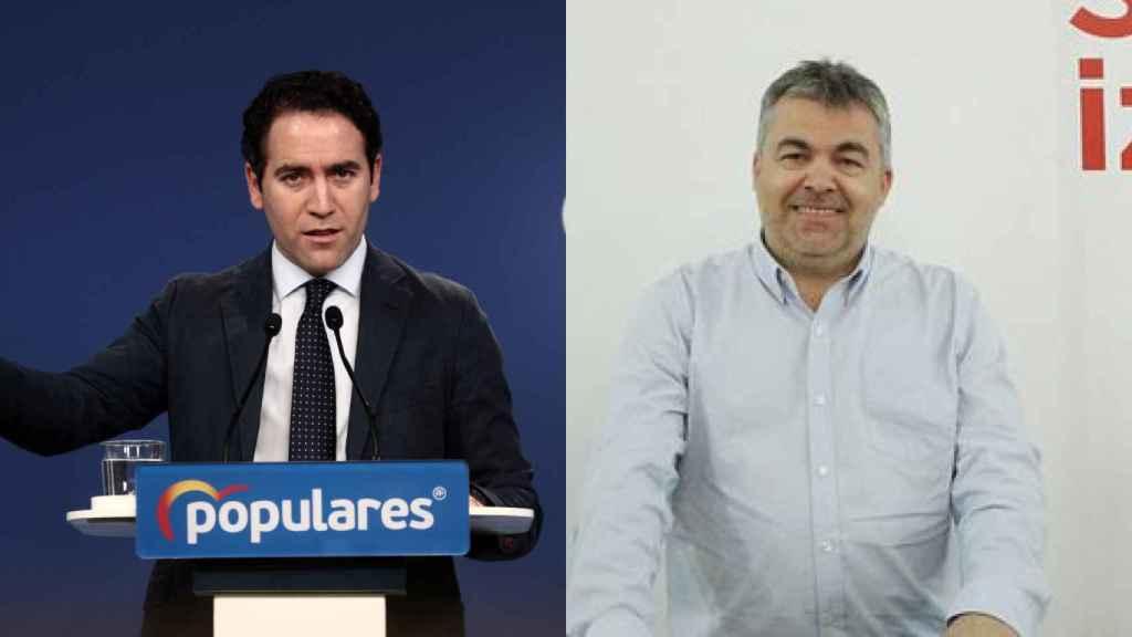 Teodoro García Ejea y Santos Cerdán.