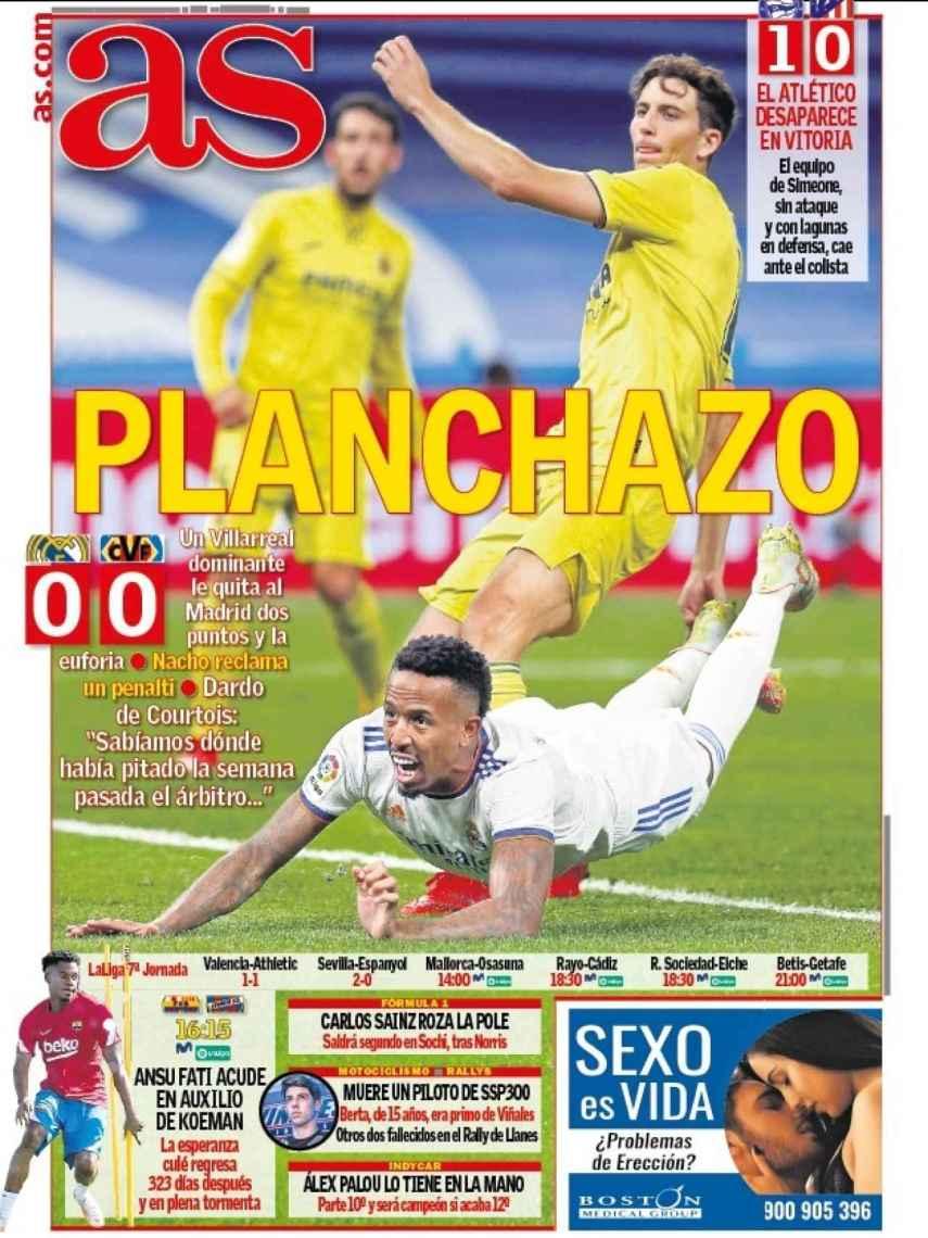 La portada del diario AS (26/09/2021)