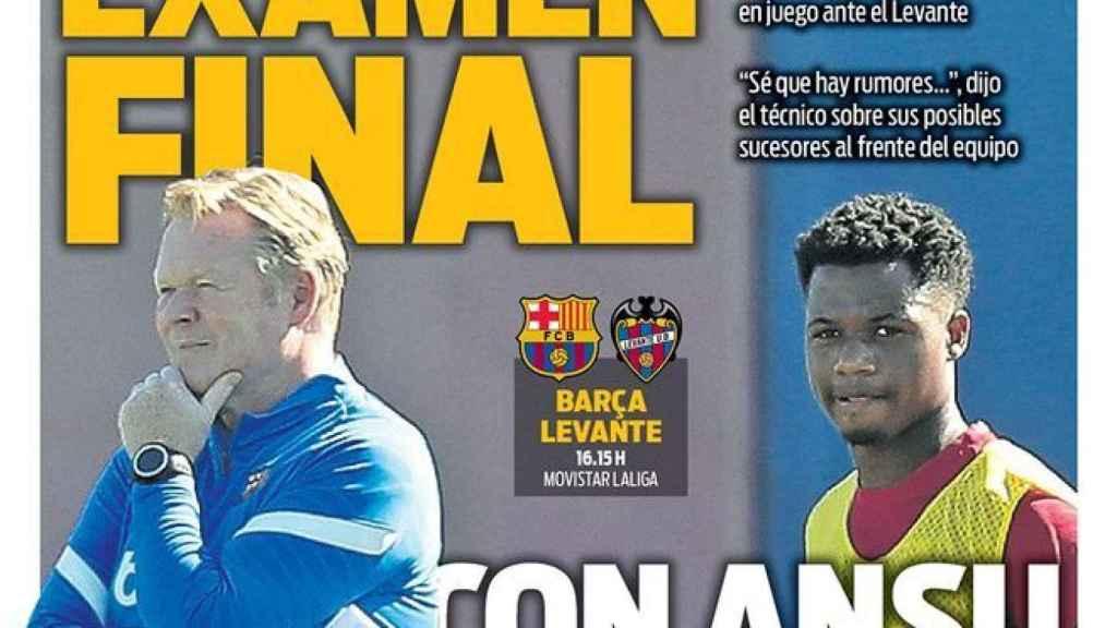 La portada del diario SPORT (26/09/2021)