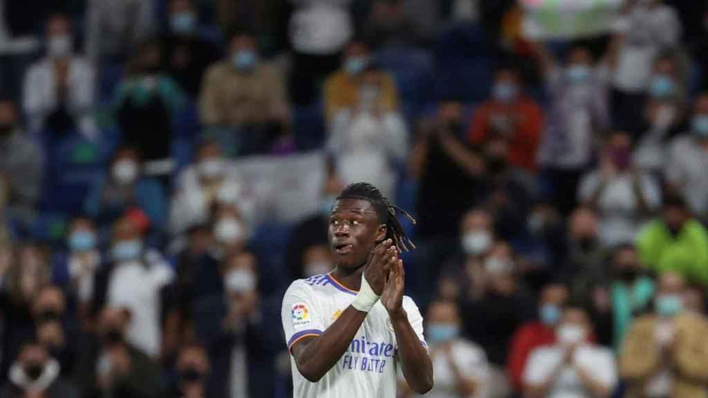 Camavinga, en el Santiago Bernabéu