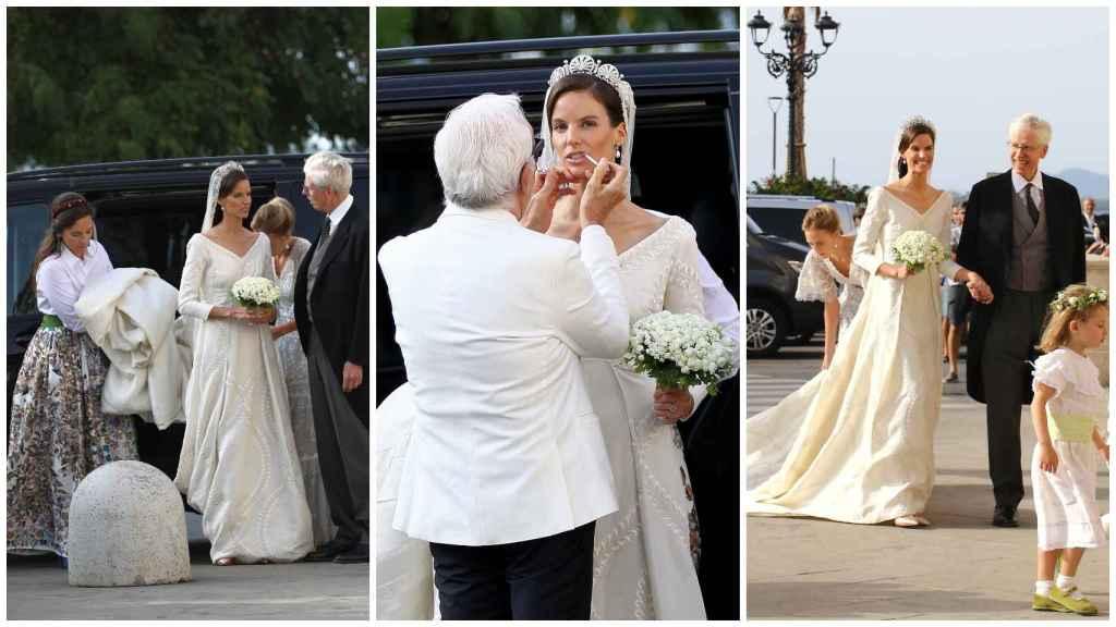 Algunas imágenes de la llegada de la novia, María Astrid de Liechtenstein, a la catedral.