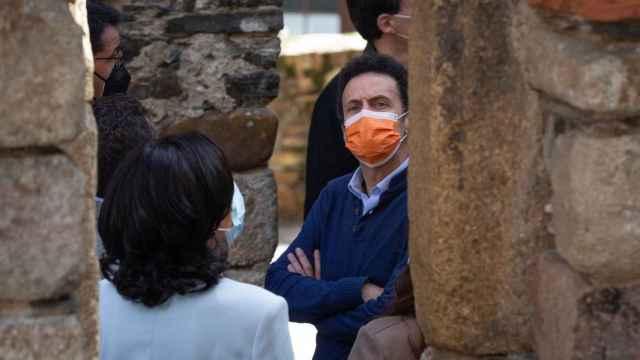 Edmundo Bal, durante su visita a Ponferrada