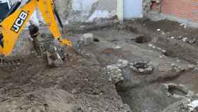 Excavaciones arqueológicas en el solar donde han aparecido los restos romanos