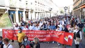 Cientos de personas reclaman en Segovia una sanidad rural digna y piden la dimisión de la consejera Casado