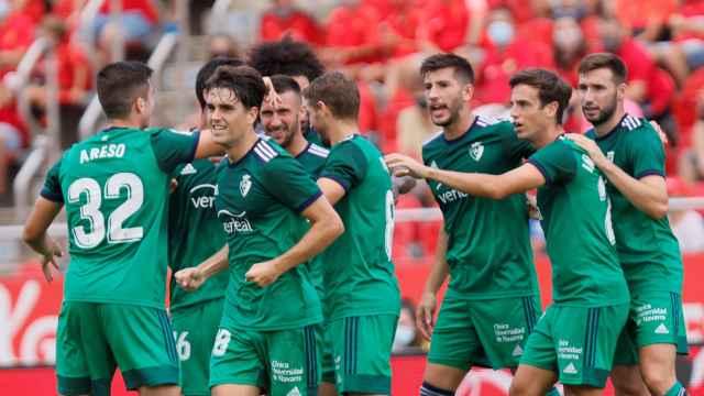 Osasuna celebra un gol contra el Mallorca