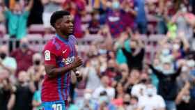 Ansu Fati celebrando su gol