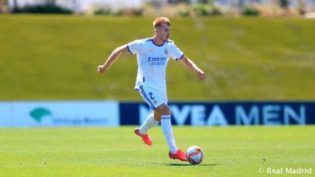 Sergio Santos, con el Castilla