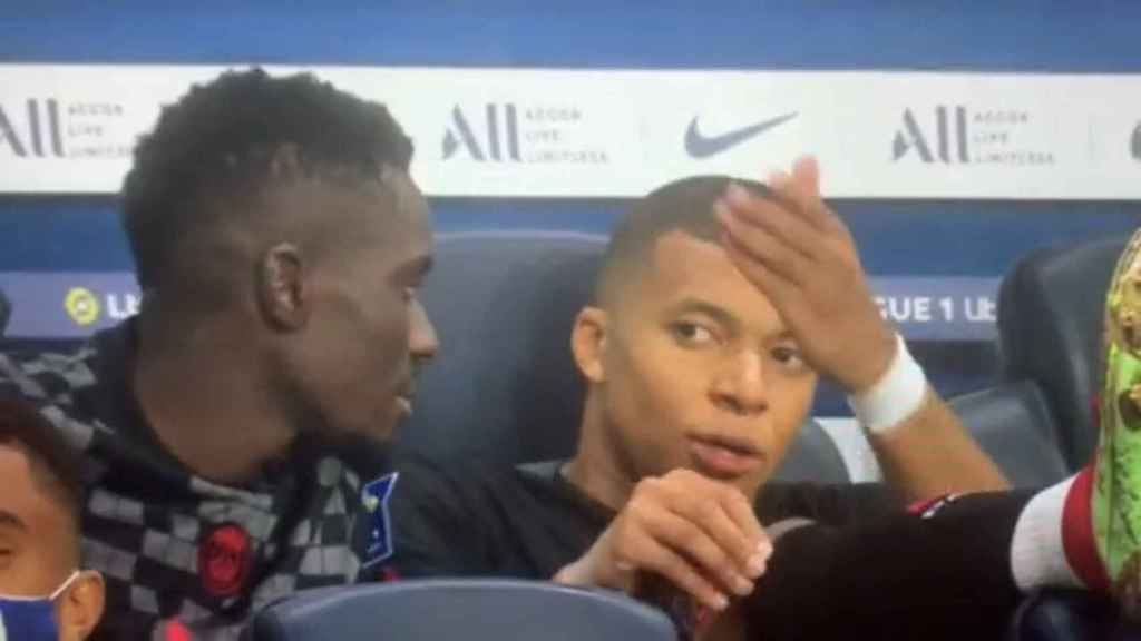 El enfado de Mbappé con Neymar