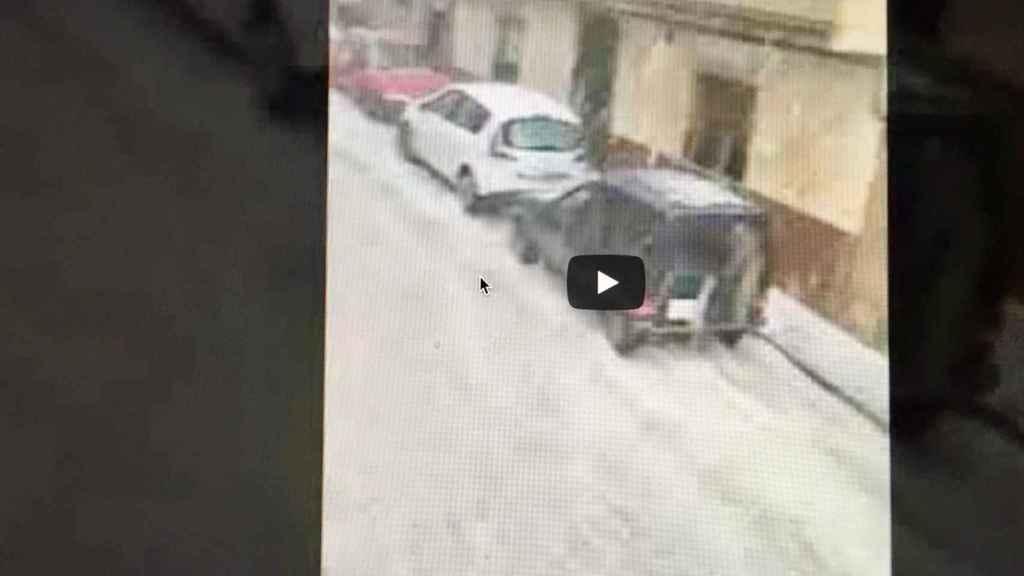 Captura del vídeo de la granizada de Fuenteálamo (Albacete) difundido por El Digital de Albacete