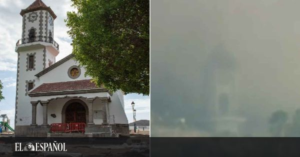 La caída del campanario de Todoque, símbolo de la devastación que no cesa del volcán de La Palma