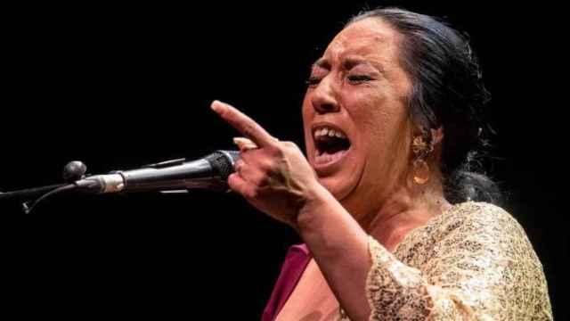 Amparo Heredia Reyes, alias La Repompilla de Málaga, en una actuación reciente.