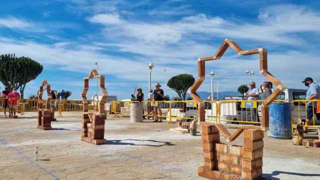 Una imagen del Concurso de Albañilería de la Peña El Palustre esta edición.