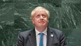 Boris Johnson, en el estrado de Naciones Unidas.