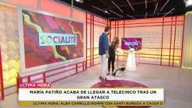 María Patiño presenta 'Socialité' en ropa deportiva y sandalias tras llegar tarde por un atasco