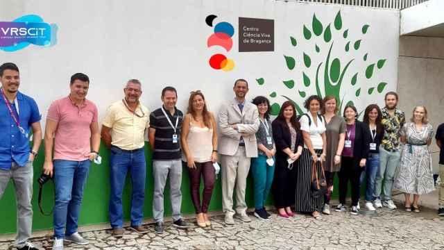 Participantes en la reunión que tuvo lugar hace unos días en Bragança