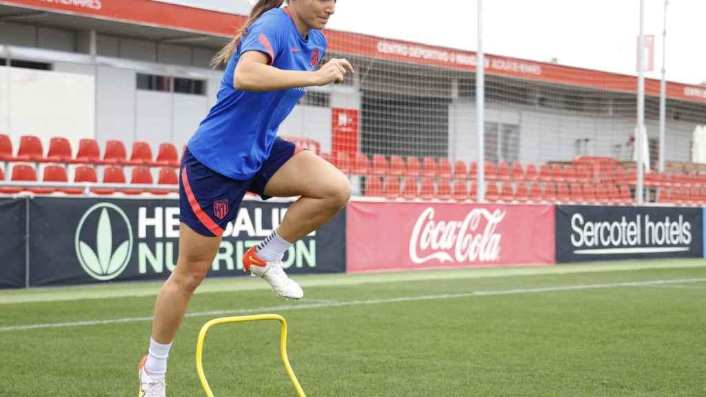 Alia Guagni entrenando con el Atlético de Madrid