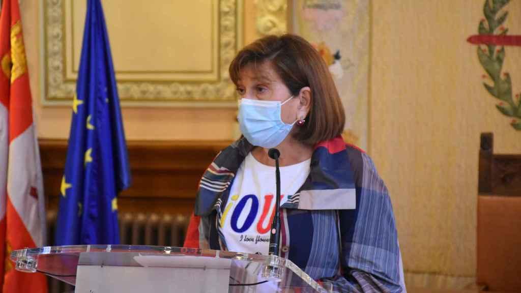 María Victoria Soto durante la rueda de prensa