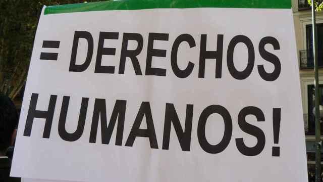 Cartel en favor de los derechos humanos