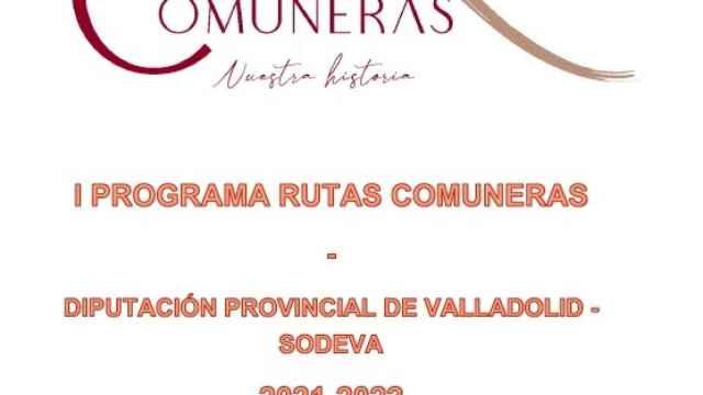 Cartel del I Programa de Rutas Comuneras por la provincia organizado por la Diputación de Valladolid