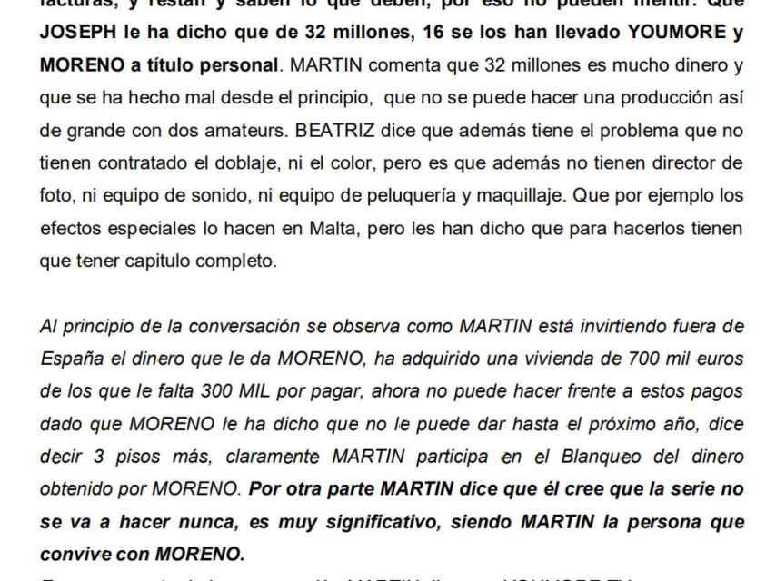José Luis Moreno no había terminado de grabar ni un solo capítulo de la serie el pasado mes de diciembre, según su colaboradora Beatriz Sánchez.