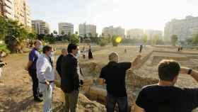 Barcala reclama el respaldo de la UE, el Consell y el Gobierno al yacimiento arqueológico del Parque de las Naciones