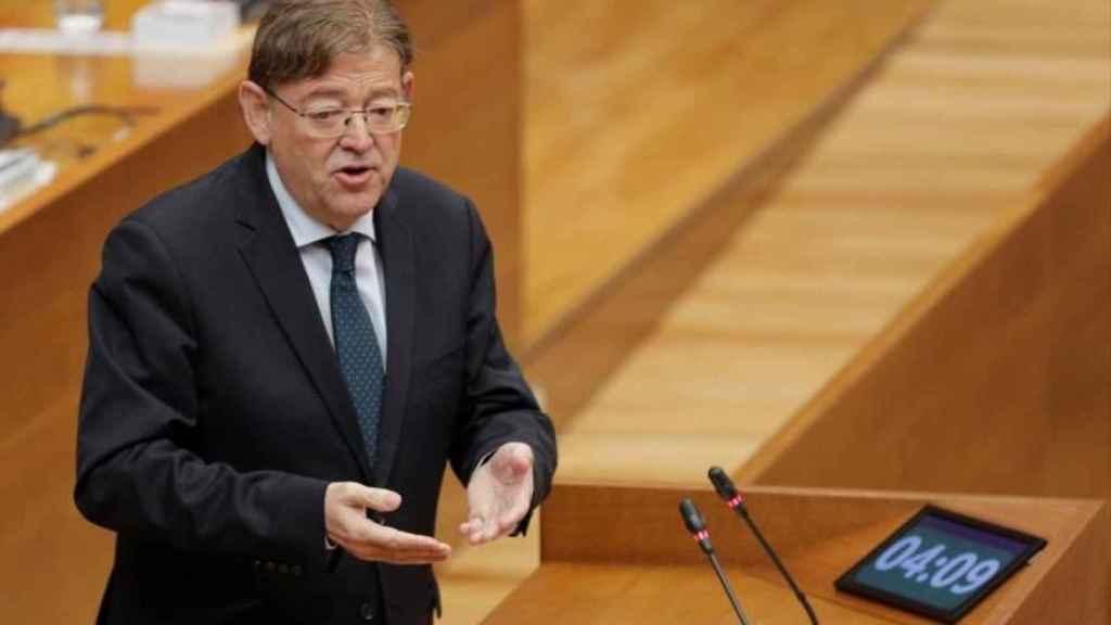 Ximo Puig, en sede parlamentaria.