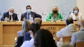 Un momento de la reunión de la consejera de Sanidad con los representantes de las sociedades de Atención Primaria