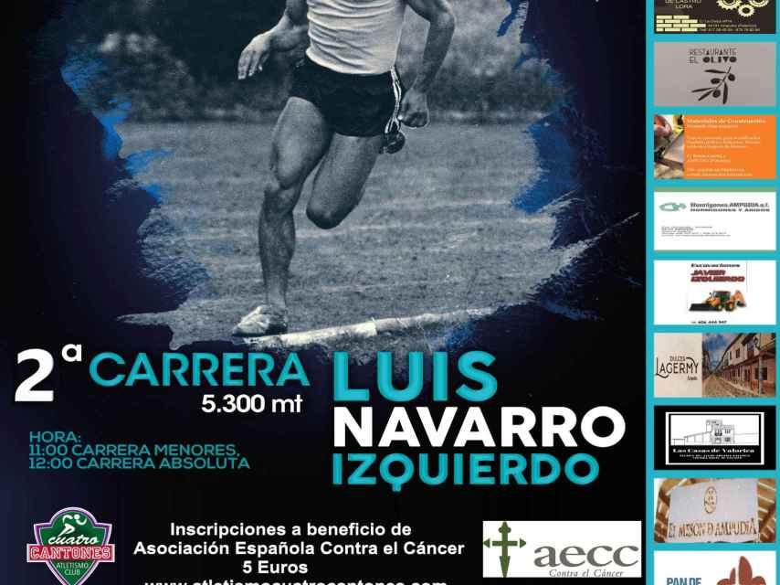 Cartel de la carrera organizada por el Ayuntamiento y el Club de Atletismo Cuatro Cantones