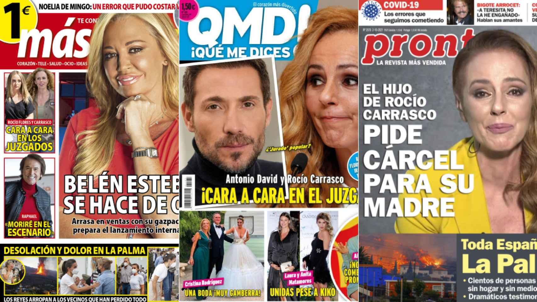 Portadas de las revistas del 27 de septiembre de 2021.