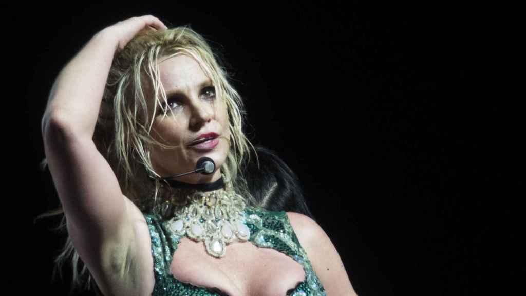 Britney Spears durante un concierto en Berlín,