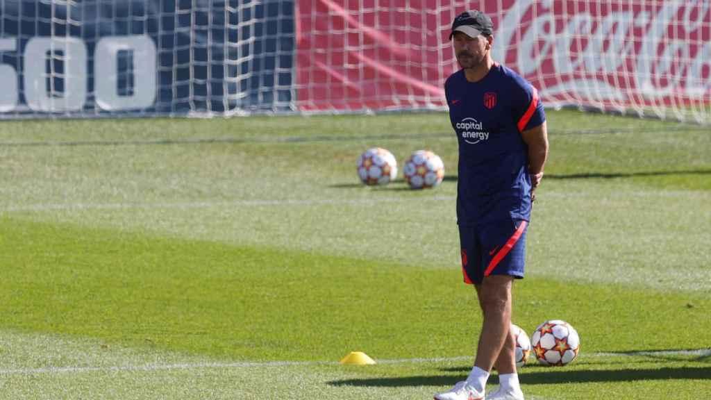 El 'Cholo' Simeone durante un entrenamiento