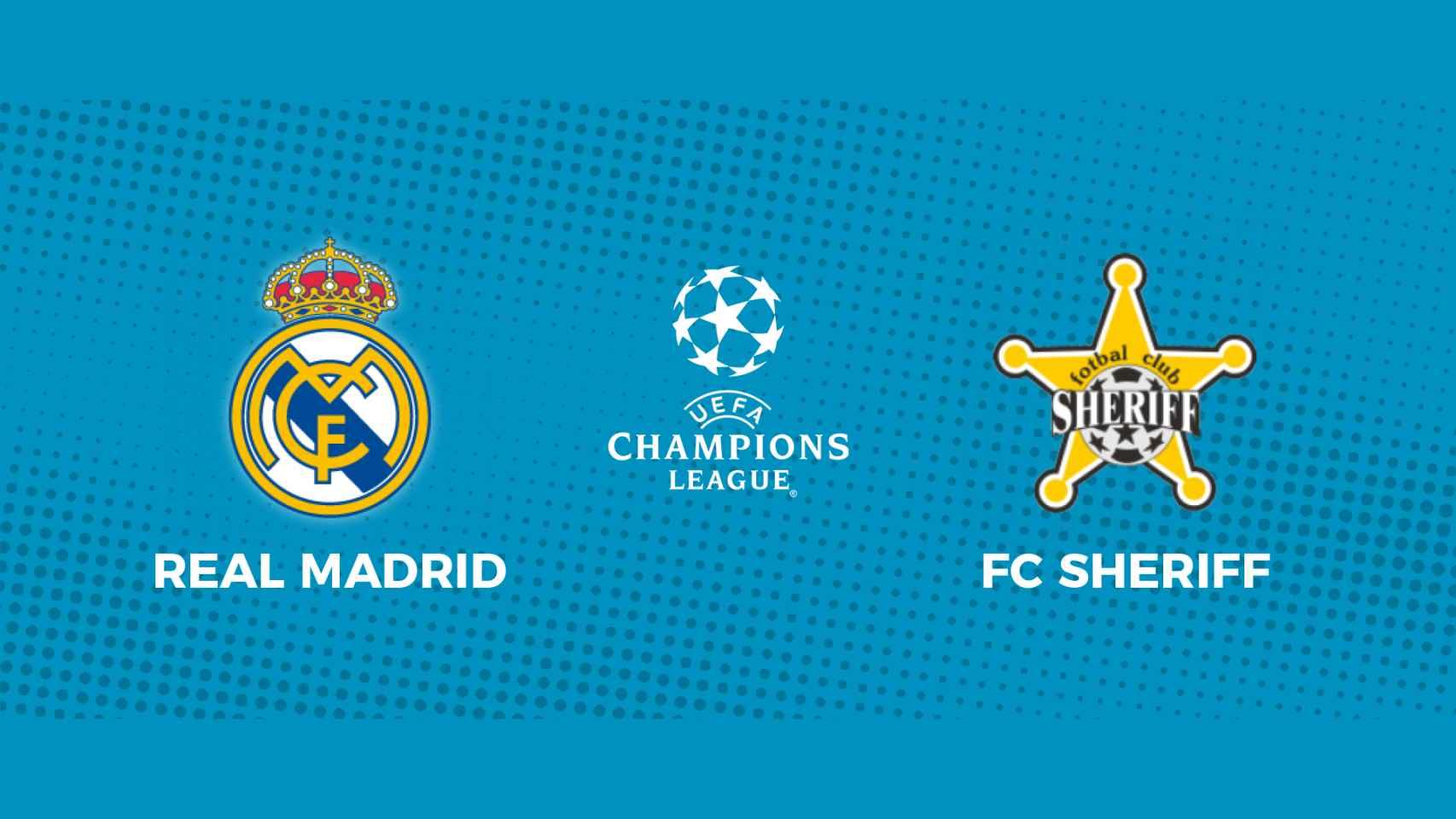 Real Madrid - FC Sheriff: siga en directo el partido de la Champions League