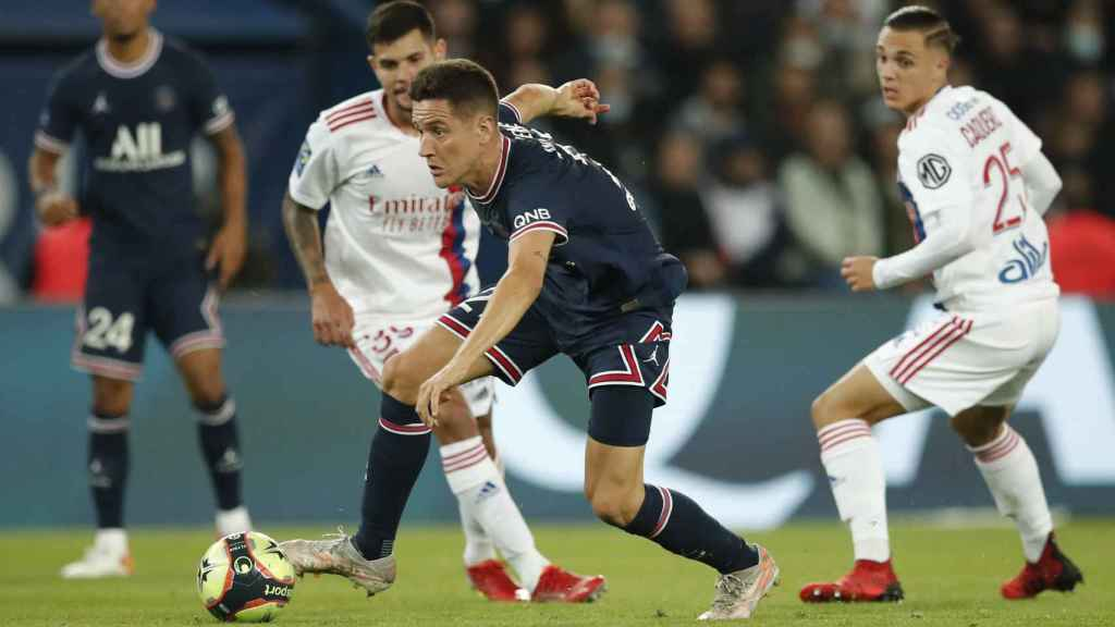 Ander Herrera en un partido contra el Olympique de Lyon