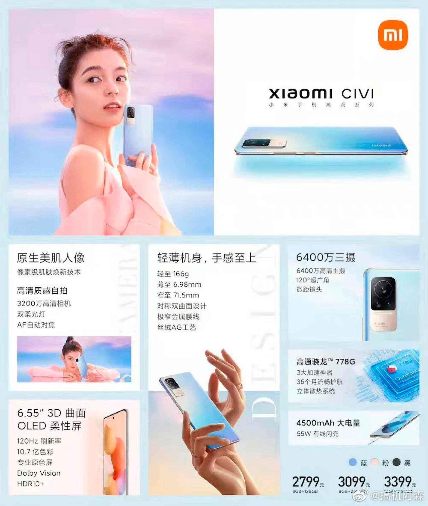 Características Xiaomi CIVI