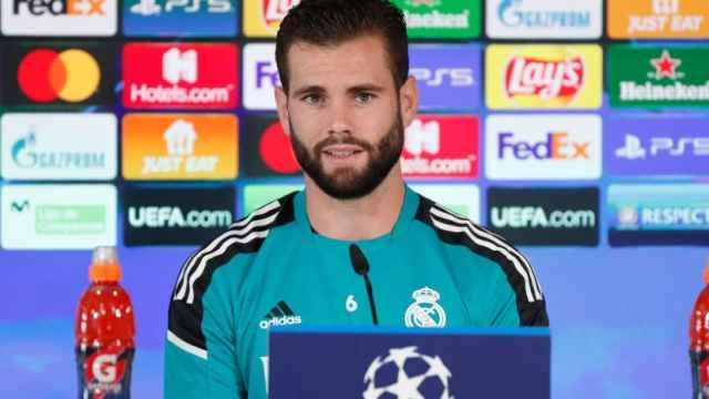 Nacho Fernández, en rueda de prensa de la Champions League