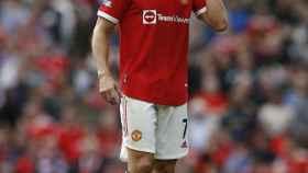 Cristiano Ronaldo, en un partido del Manchester United
