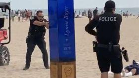 Captura del tiroteo durante el US Open de surf